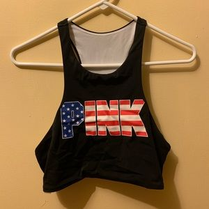 PINK redwhite&blue bathing suit only top piece